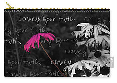 Carry-all Pouch featuring the photograph Convey Your Truth by Lauren Radke