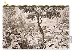 Cony Catching, Engraved By Wenceslaus Carry-all Pouch