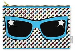 Cool 90's Sunglasses Blue Carry-all Pouch