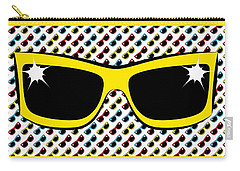 Cool 90's Sunglasses Yellow Carry-all Pouch