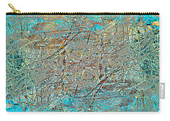 Carry-all Pouch featuring the photograph Cool Blue Tangle by Stephanie Grant