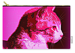 Carry-all Pouch featuring the photograph Cool Cat by Clare Bevan