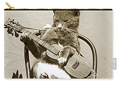 Cool Cat Playing A Guitar Circa 1900 Historical Photo By Photo  Henry King Nourse Carry-all Pouch by California Views Mr Pat Hathaway Archives