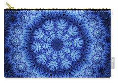 Carry-all Pouch featuring the digital art Cool Down Series #1 Snowflake by Lilia D