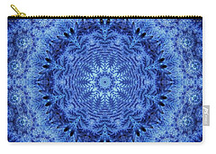 Carry-all Pouch featuring the digital art Cool Down Series #2 Frozen by Lilia D