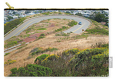 Cool Drive On Twin Peaks - San Francisco Carry-all Pouch by Connie Fox