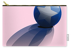 Blue Ball Decorated With Star Carry-all Pouch