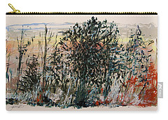 Carry-all Pouch featuring the painting Cool Start by John Williams