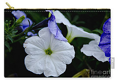 Carry-all Pouch featuring the photograph Cool Summer Petunias by Wilma  Birdwell