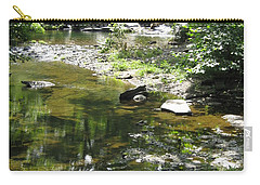 Carry-all Pouch featuring the photograph Cool Waters by Ellen Levinson