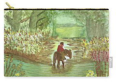 Carry-all Pouch featuring the painting Cooling Off by Tracey Williams