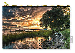 Coosaw Plantation Sunset Carry-all Pouch by Scott Hansen