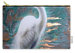Copper Egret Carry-all Pouch