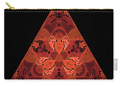 Copper Triangle Abstract Carry-all Pouch
