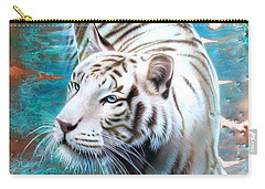 Copper White Tiger Carry-all Pouch