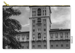 Coral Gables Biltmore Hotel In Black And White Carry-all Pouch