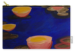 Coral Lily Pond Carry-all Pouch by Anita Lewis