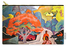 Coral Tree - Black Point Honolulu Carry-all Pouch by Pg Reproductions
