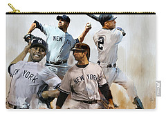 Core  Derek Jeter Mariano Rivera  Andy Pettitte Jorge Posada Carry-all Pouch by Iconic Images Art Gallery David Pucciarelli