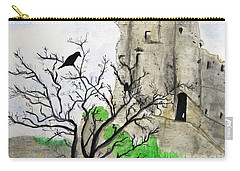 Corfe Castle And Crow Carry-all Pouch