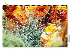 Carry-all Pouch featuring the photograph Corkscrew Anemone Grove by Amy McDaniel