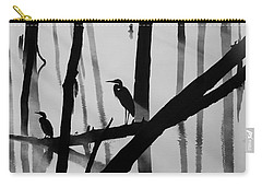 Cormorant And The Heron  Bw Carry-all Pouch