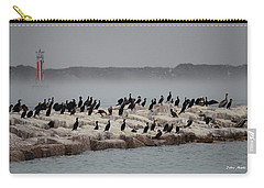 Carry-all Pouch featuring the photograph Cormorant Island by Debra Martz