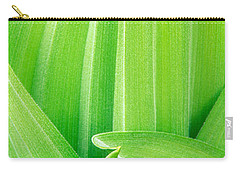 Carry-all Pouch featuring the photograph Corn Lily Leaf Detail Yosemite Np California by Dave Welling
