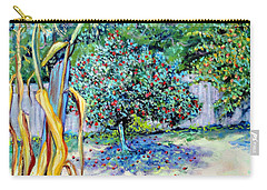 Carry-all Pouch featuring the painting Corn Stalk And Apple Tree  Autumn Lovers by Asha Carolyn Young