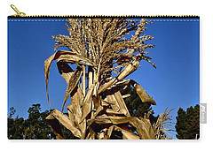 Carry-all Pouch featuring the photograph Corn Stalk by Michael Gordon