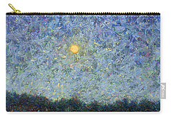 Carry-all Pouch featuring the painting Cornbread Moon - Square by James W Johnson