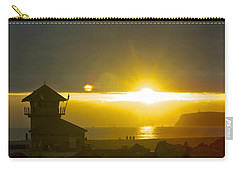 Coronado's Beach At Sunset Carry-all Pouch by Claudia Ellis