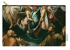 Coronation Of The Virgin With Saints Joseph And Francis Of Assisi Carry-all Pouch