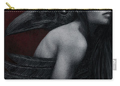 Carry-all Pouch featuring the painting Corvidae by Pat Erickson