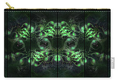 Cosmic Alien Eyes Green Carry-all Pouch by Shawn Dall