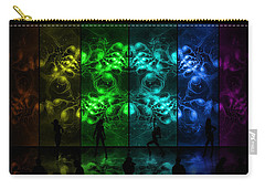 Cosmic Alien Vixens Pride Carry-all Pouch by Shawn Dall