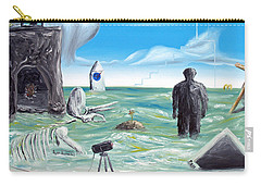 Carry-all Pouch featuring the painting Cosmic Broadcast -last Transmission- by Ryan Demaree