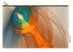 Carry-all Pouch featuring the digital art Cosmic Candle by Victoria Harrington