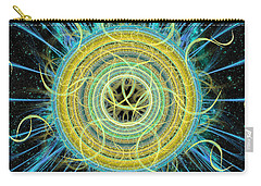 Cosmic Circle Fusion Carry-all Pouch by Shawn Dall