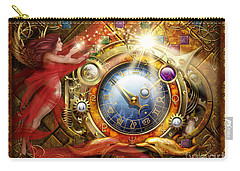 Cosmic Clock Carry-all Pouch by Ciro Marchetti