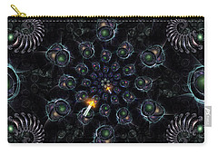 Carry-all Pouch featuring the digital art Cosmic Embryos by Shawn Dall
