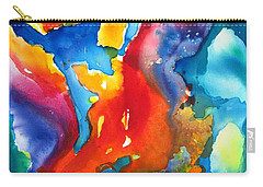 Cosmic Fire Abstract  Carry-all Pouch by Carlin Blahnik