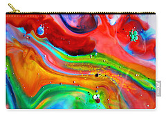 Carry-all Pouch featuring the painting Cosmic Lights by Joyce Dickens