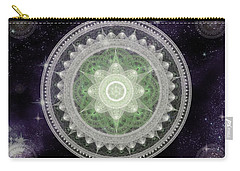 Cosmic Medallions Earth Carry-all Pouch by Shawn Dall
