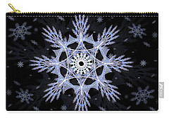 Cosmic Snowflakes Carry-all Pouch by Shawn Dall