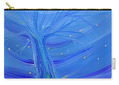 Carry-all Pouch featuring the painting Cosmic Tree by First Star Art