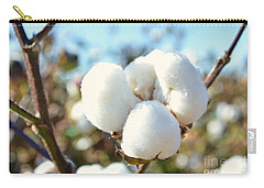Cotton Boll Iv Carry-all Pouch by Debbie Portwood