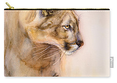 Cougar On The Prowl Carry-all Pouch by Bonnie Rinier