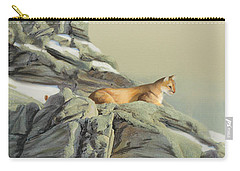 Carry-all Pouch featuring the painting Cougar Perch by Jane Girardot