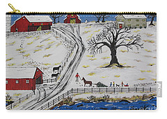Country Christmas Tree Carry-all Pouch by Jeffrey Koss